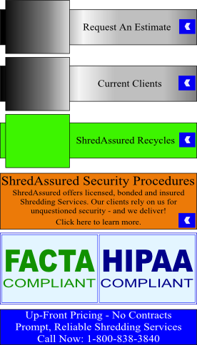 Florida paper shredding secure mobile on site off site for Document shredding drop off sites